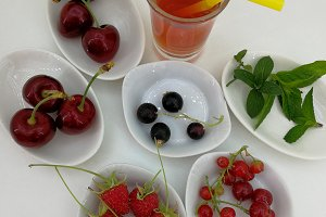 Smoothie and red berries