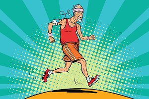 The old man runner, healthy lifestyle