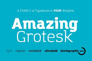 Amazing Grotesk - 9 fonts