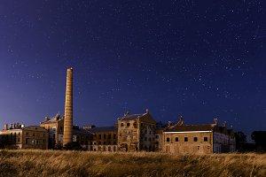 IMGabandoned sugar factory at night_