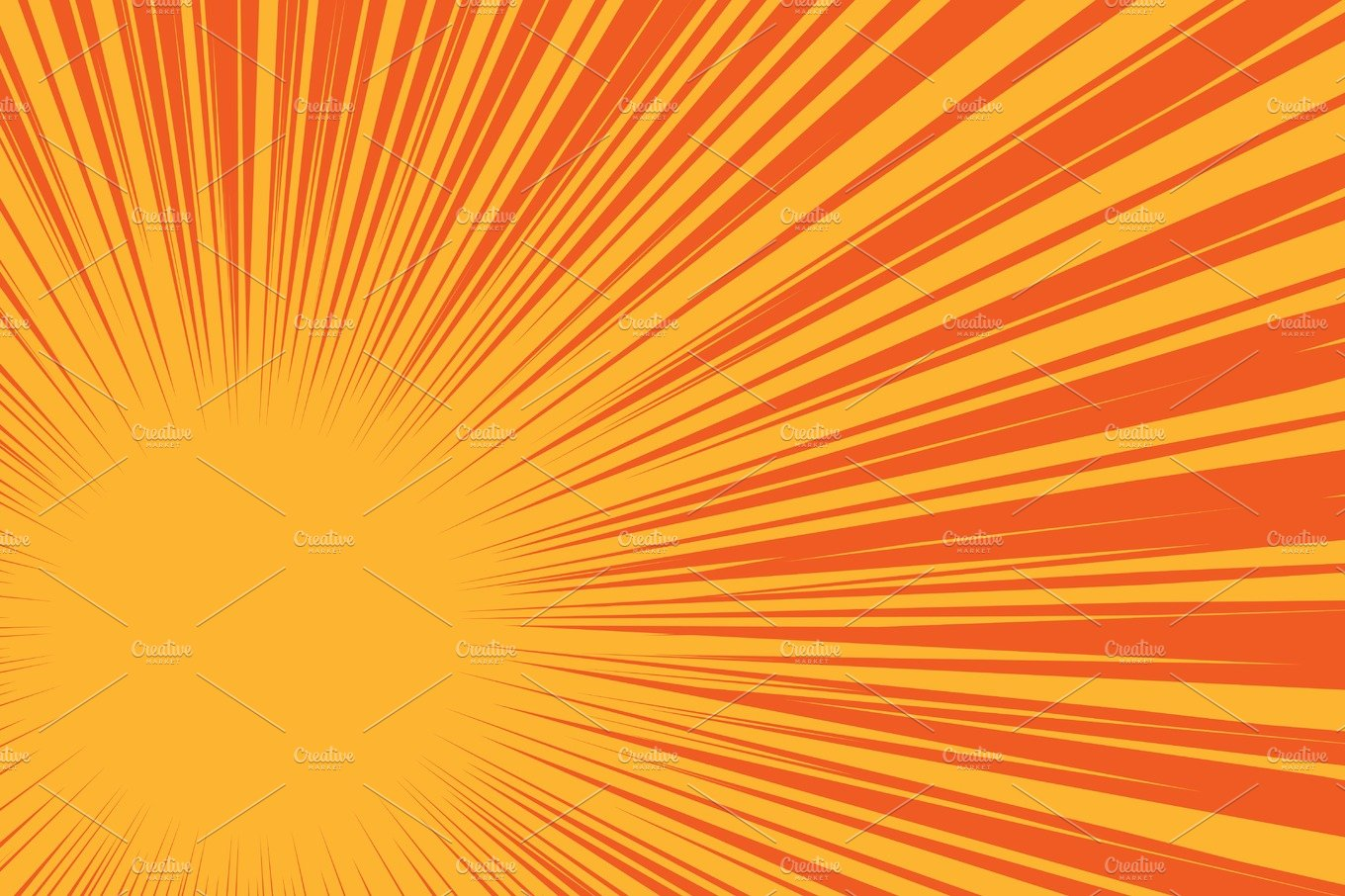 Yellow Sun On A Red Background, Pop Art Comic Background