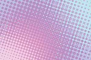 Red blue abstract halftone comic pop art background
