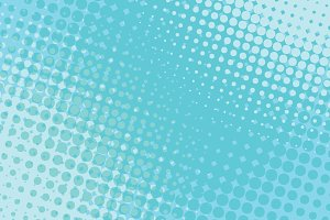 blue pop art halftone background