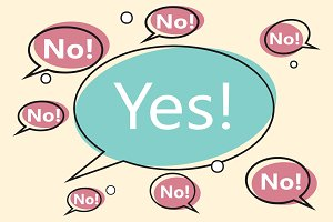 no yes comic bubble