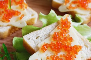 festive sandwiches