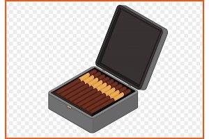 cigar box vector
