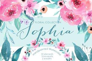Sophia Floral Watercolor clipart
