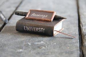 university rankings concept, vintage style.