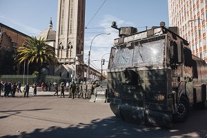Protests in Valparaiso, Chile