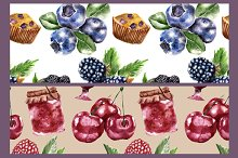 Seamless pattern with berry
