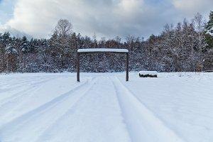 winter landscape on a glade