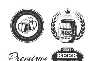 Beer festival vector logos set