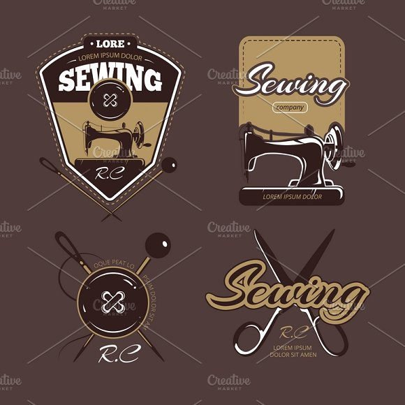 Tailoring Color Vector Badges