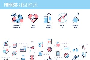 Fitness and healthy life concept
