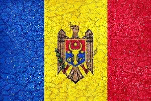 Moldova Grunge Style National Flag