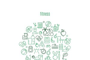Logo for gyms and fitness clubs