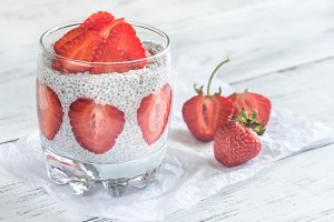Chia seed puddings