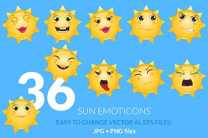 Sun Emoticons