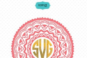 Mandala tribal monogram svg