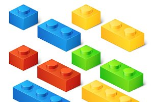 Construction toy cubes