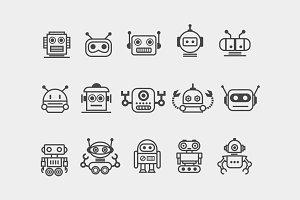 15 Robot Icons