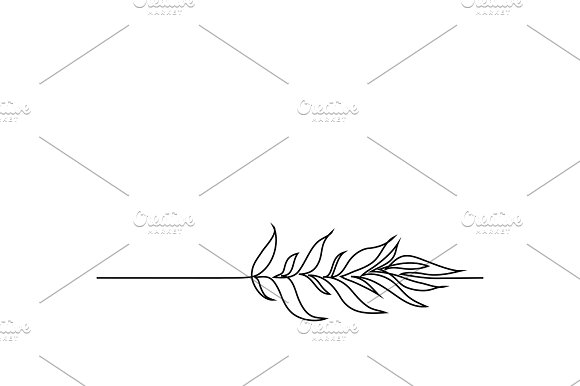 Continuous Line Drawing Of Plant With Leaves