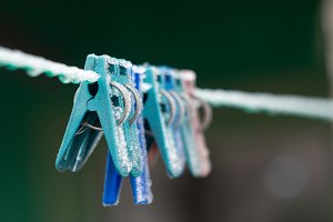 Clothespins frost