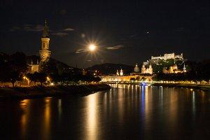 Salzburg, Austria - night view