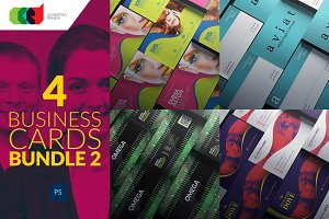 4 Business Cards Bundle 2