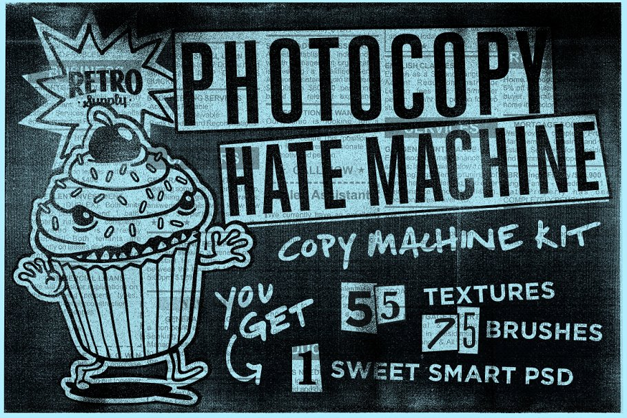 4ed9b50a01742 Photocopy Hate Machine | Texture Kit ~ Photoshop Add-Ons ~ Creative ...