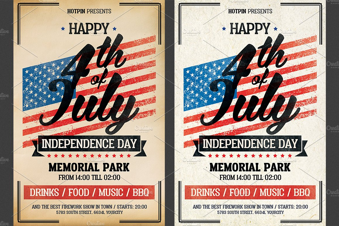 independence day flyer template flyer templates creative market