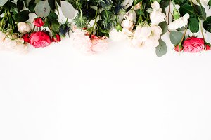 Roses and eucalyptus | Hero image