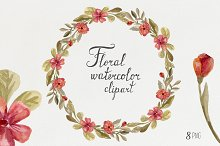 Watercolor Wreaths & flowers