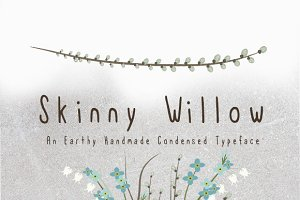 Skinny Willow Earthy Handmade Font