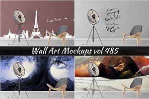 Wall Mockup - Sticker Mockup Vol 485