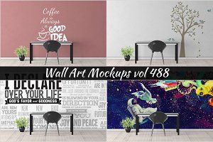 Wall Mockup - Sticker Mockup Vol 488