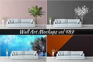 Wall Mockup - Sticker Mockup Vol 489