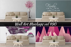 Wall Mockup - Sticker Mockup Vol 490