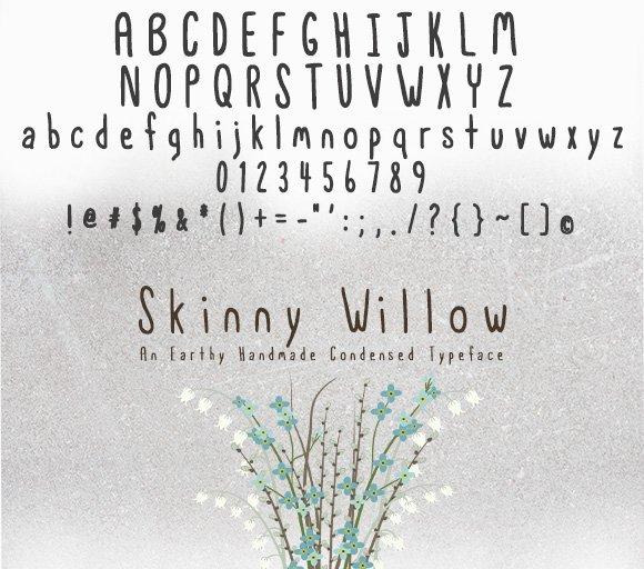 Skinny Willow Earthy Handmade Font Sans Serif Fonts Creative Market