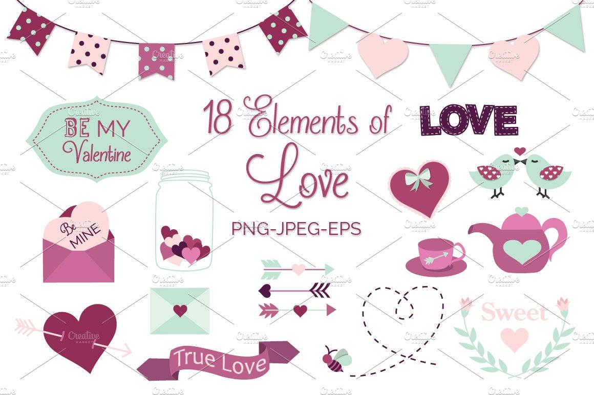Valentines Day Elements Illustrations Creative Market
