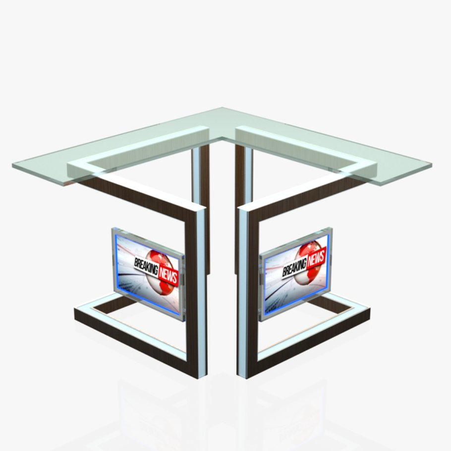 TV Studio News Desk 3 in Furniture
