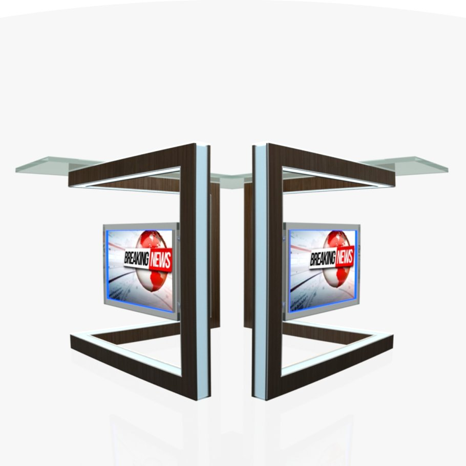 TV Studio News Desk 3 in Furniture - product preview 3