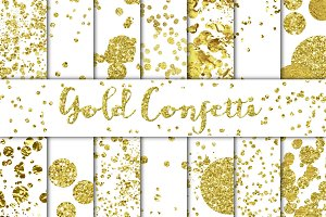 Gold Confetti Overlays/Backgrounds