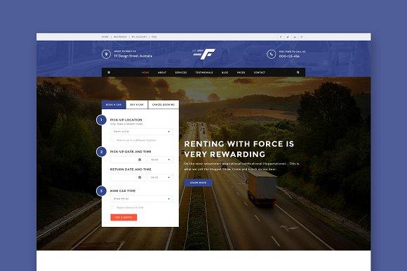 Force Car Automotive HTML Template