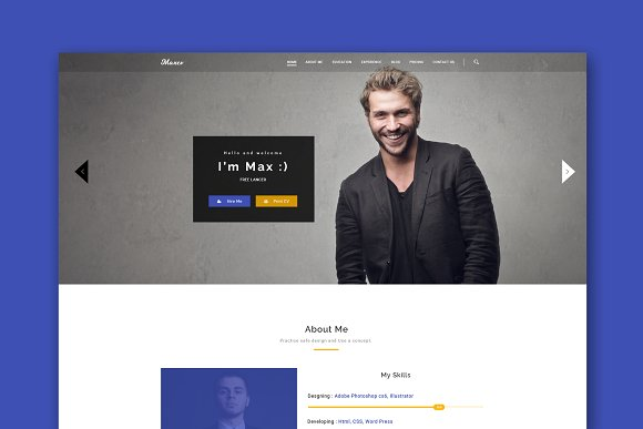 Max CV Resume HTML Template
