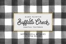 Hand Painted Buffalo Check Patterns