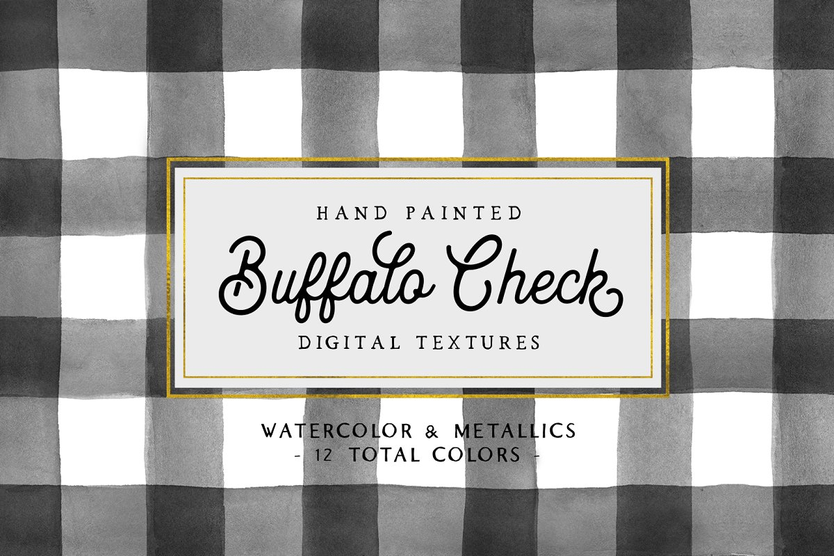 Hand Painted Buffalo Check Patterns
