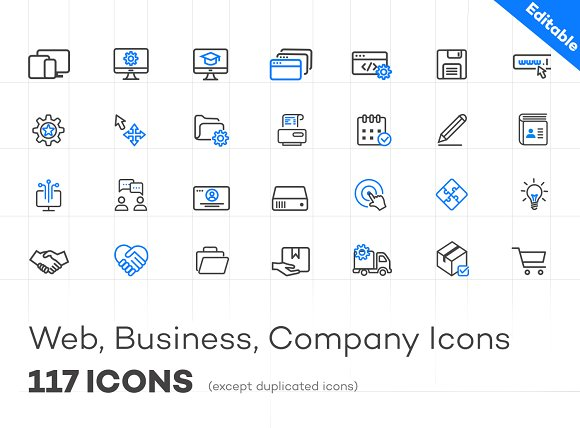 WEB/BUSINESS/COMPANY ICONS