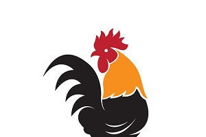 Vector of a cock design.