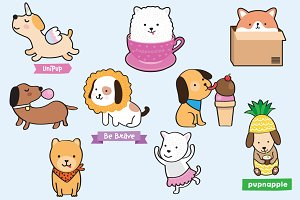 Puppies! cute illustrations of dogs